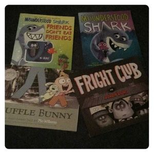 4 KIDS SOFTCOVER PICTURE BOOKS, Mo Willams etc